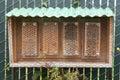 Man made garden bee hive Royalty Free Stock Photo