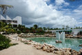 Man made pool at Covecastles Resort, Shoal Bay West, Anguilla Royalty Free Stock Photo