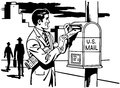 Man Mailing A Letter Royalty Free Stock Photo