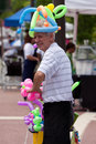 Man makes balloon toys at arts festival atlanta ga usa june a the old fourth ward in atlanta Stock Images