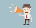 Man with megaphone a vector Royalty Free Stock Photo
