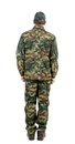 Man in military suit back view isolated on a white background Stock Photography