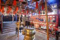 Man mo temple interior of in hong kong china Royalty Free Stock Photo