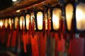 Man mo temple interior lanterns of in hong kong china Stock Photos