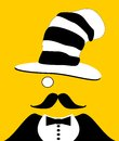 Man with monocle and funny hat Royalty Free Stock Images