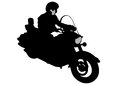 Man on motor bike five