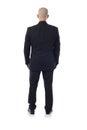 #Man no terno de atrás Fotografia de Stock Royalty Free