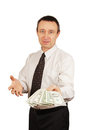 Man offers money Royalty Free Stock Photo