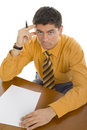 Man at office desk Stock Photography