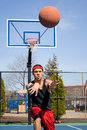 Man Passing the Basketball Stock Photography