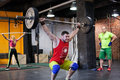 Man performing a barbell at the gym Royalty Free Stock Photo