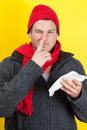 Man picking nose Royalty Free Stock Image
