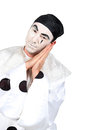 Man with Pierrot costume Stock Photo