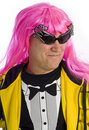 Man with Pink Hair and Funky Sunglasses Stock Image