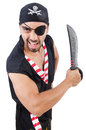 Man in pirate costume halloween concept Royalty Free Stock Photos