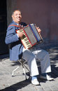 Man playing the accordion Royalty Free Stock Photos
