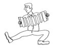 Man playing the accordion Royalty Free Stock Photo