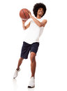 Man playing basketball Stock Image