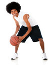 Man playing basketball Stock Photos