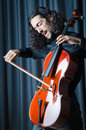 Man playing the cello Royalty Free Stock Image