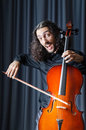 Man playing the cello Royalty Free Stock Photo