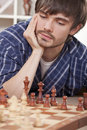 Man playing chess Royalty Free Stock Images