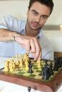 Man playing chess Royalty Free Stock Photography