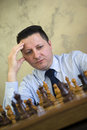 Man playing chess Royalty Free Stock Photos
