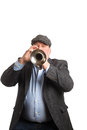 A man playing a Cornet Royalty Free Stock Photo
