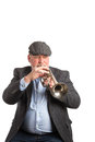 A man playing a cornet Royalty Free Stock Photo