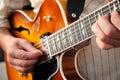 Man playing a guitar Royalty Free Stock Photo