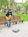 stock image of  Man playing on guitar