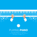 Man playing piano. Royalty Free Stock Photo