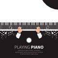 Man playing piano. Royalty Free Stock Photo