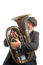 A man playing a Tuba Royalty Free Stock Photo