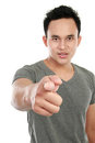 Man pointing finger at you Royalty Free Stock Photos