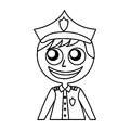 Man police officer avatar character