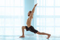 Man practicing advanced yoga. A series of yoga poses. Lifestyle concept Royalty Free Stock Photo