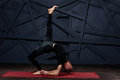 Man practicing advanced yoga. A series of yoga poses. Sport concept Royalty Free Stock Photo