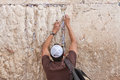 Man pray at the western wall, Jerusalem Stock Images