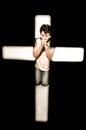 Man praying. Royalty Free Stock Photo