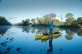 Man preparing to go kayak fishing Royalty Free Stock Photo