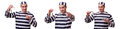 The man prisoner isolated on white background Royalty Free Stock Photo