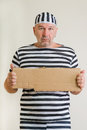 Man prisoner portrait of a in prison garb Stock Photography