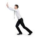 Man push something isolated business pushing Royalty Free Stock Photography