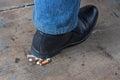 Man quit smoking Royalty Free Stock Photo