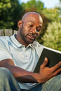 Man Reading a Book Royalty Free Stock Photo