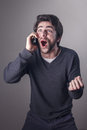 Man receiving good news Royalty Free Stock Photo