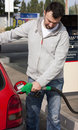 Man Refilling Car Royalty Free Stock Images