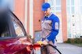 Man Refueling Car`s Tank Royalty Free Stock Photo
